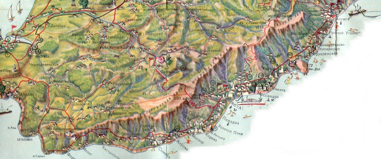 Карта Юбк Крым