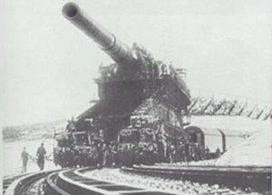 Cañón ferroviario Dora Schwerer Gustav railway gun Sebastopol
